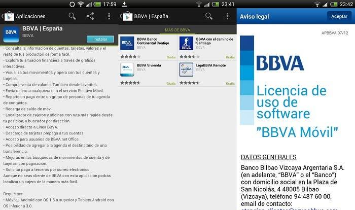 Instalación de la aplicación BBVA