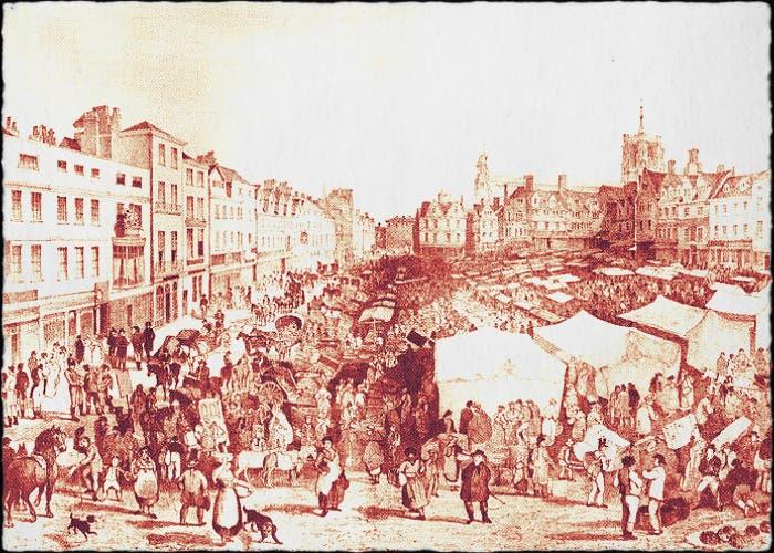 Norwich Marketplace - John Sell Cotman (1806)