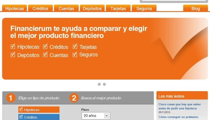 Tu comparador de productos financieros