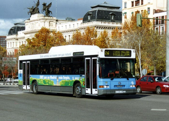 Autobuses ecológicos en Madrid
