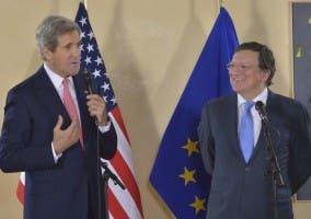 John Kerry y José Manuel Barroso