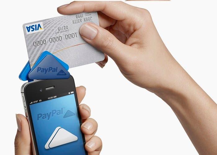 Lector móvil para pagos con tarjetas en PayPal