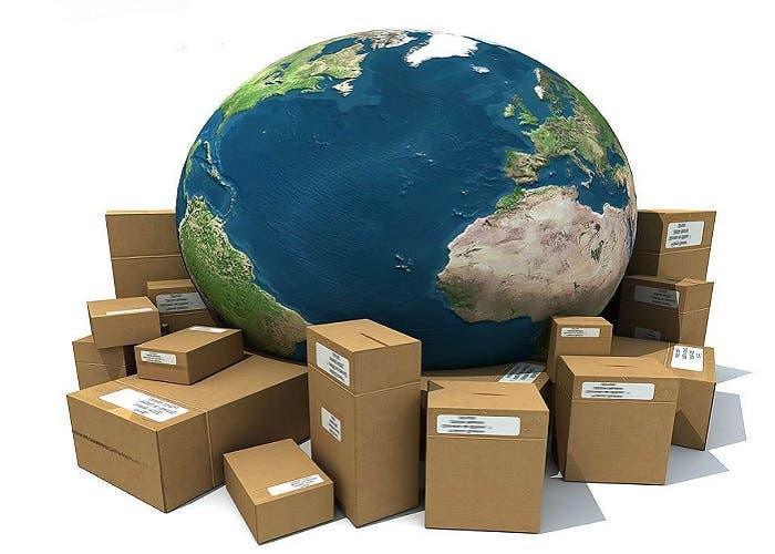 Cajas y bola del mundo