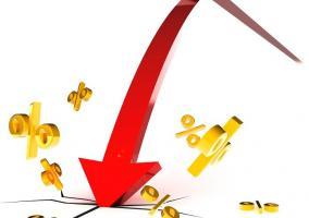 Flecha rompiendo porcentajes