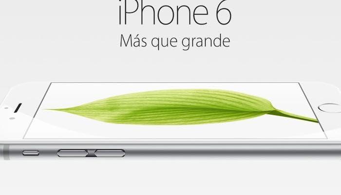 iPhone 6 mas que grande