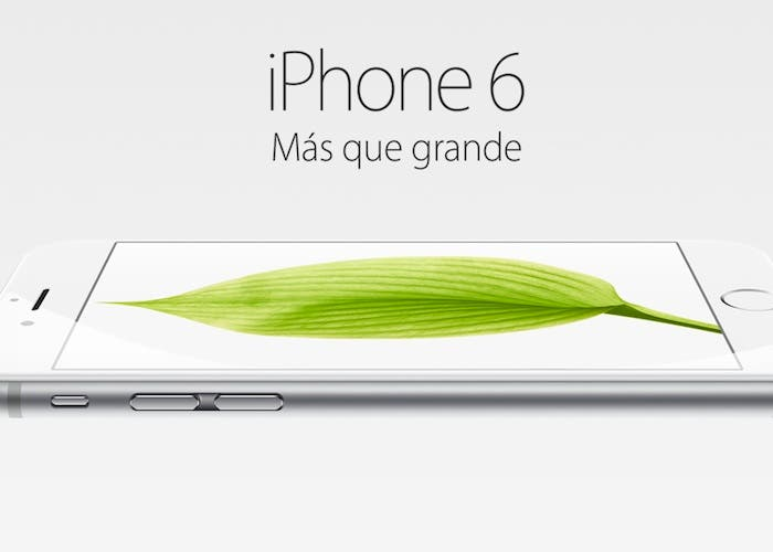 iPhone 6 mas que grande