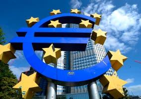 Logo que representa al euro