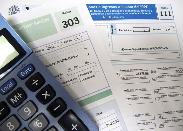 Impresos fiscales de distintos impuestos