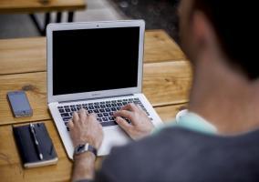 empresario ordenador